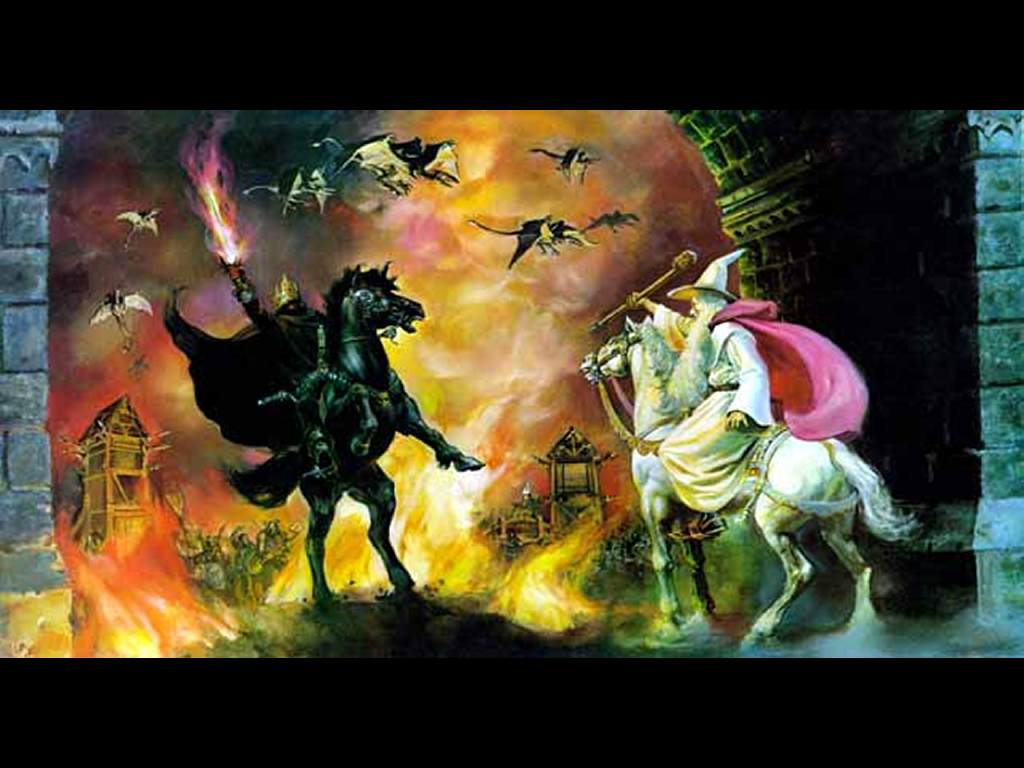 Fantasy Wallpaper: The Siege of Gondor