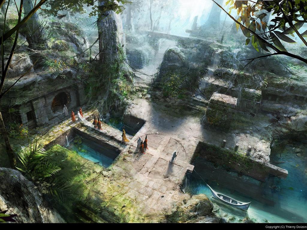 Fantasy Wallpaper: Thierry Doizon - The Passage