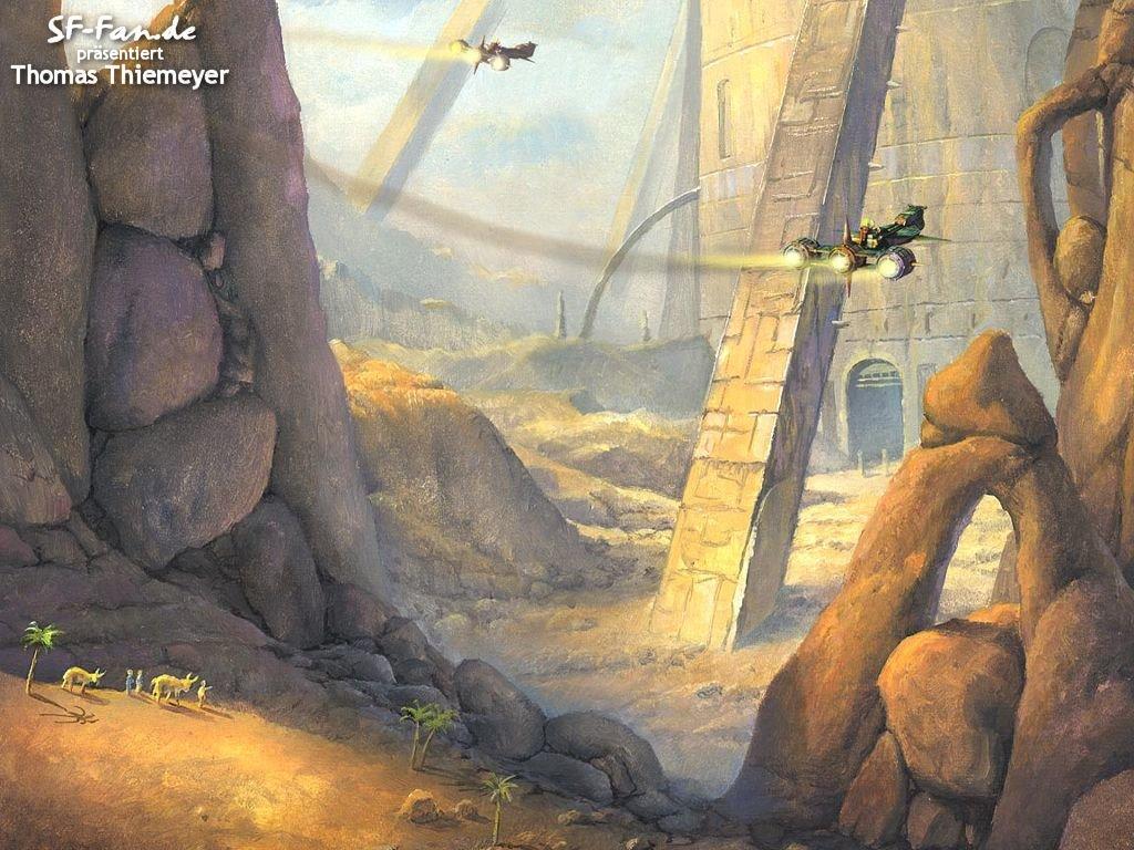 Fantasy Wallpaper: Thomas Thiemeyer - Ancient Ruins