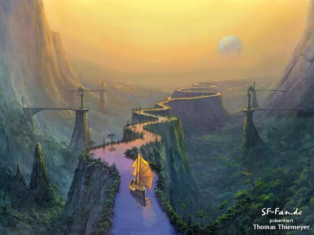 Fantasy Wallpaper: Thomas Thiemeyer - River