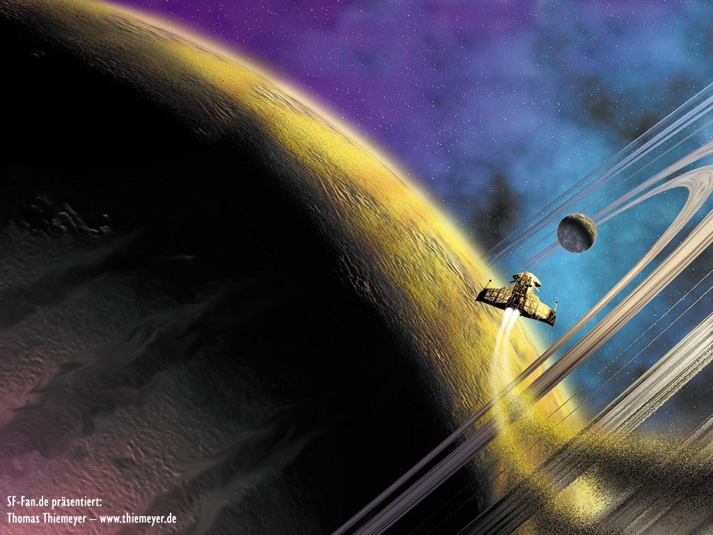 Fantasy Wallpaper: Thomas Thiemeyer - Saturn Rings
