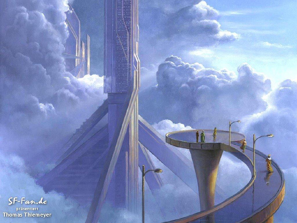 Fantasy Wallpaper: Thomas Thiemeyer - Skyscraper