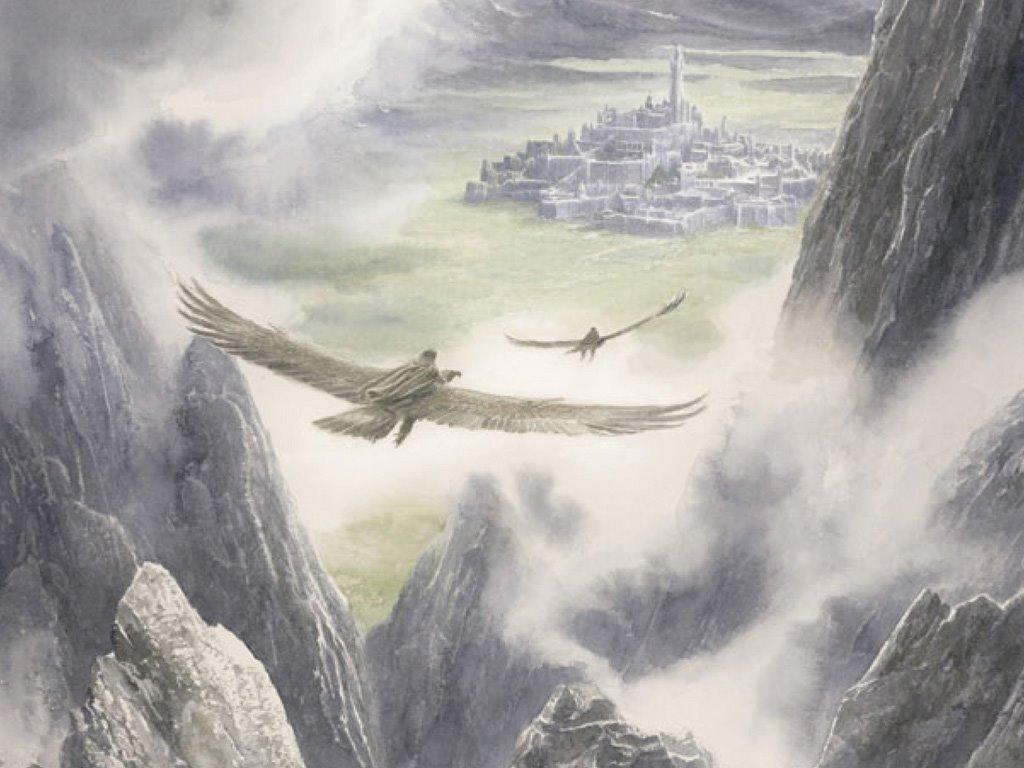 Fantasy Wallpaper: Tolkien - Eagles
