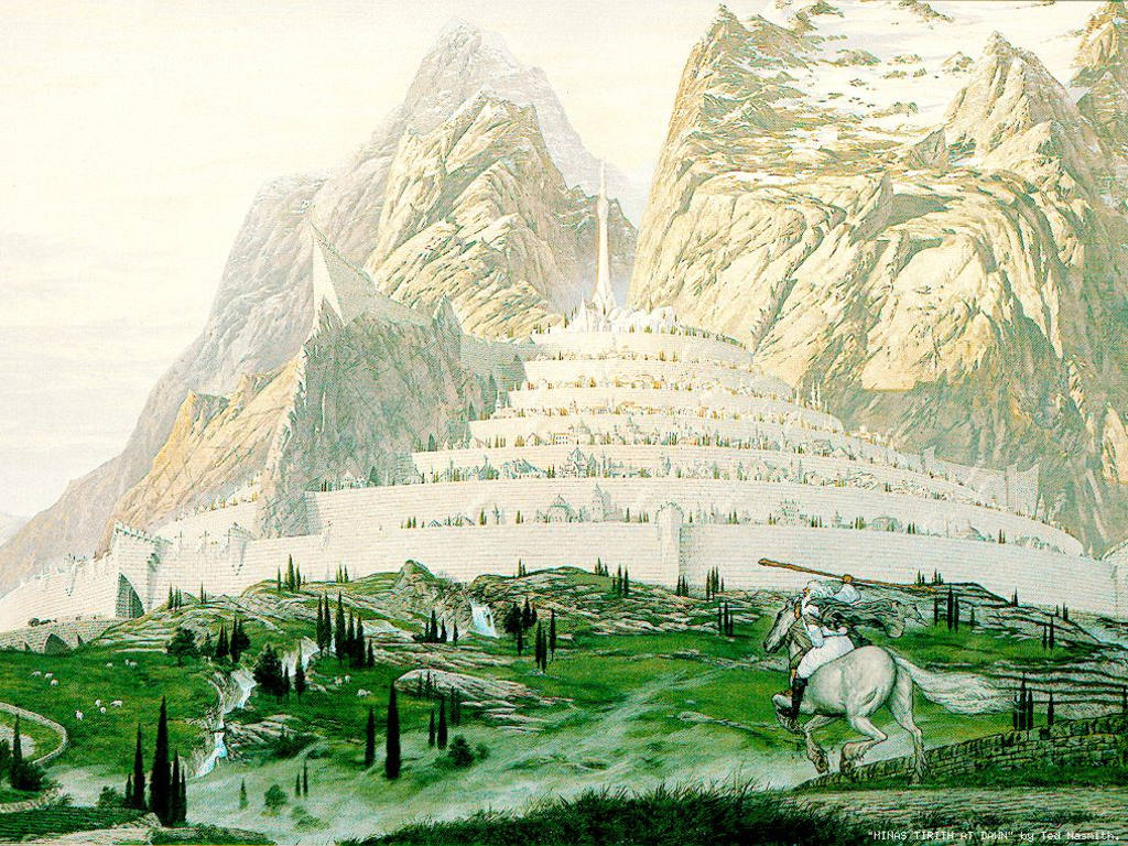 Fantasy Wallpaper: Tolkien - Minas Tirith