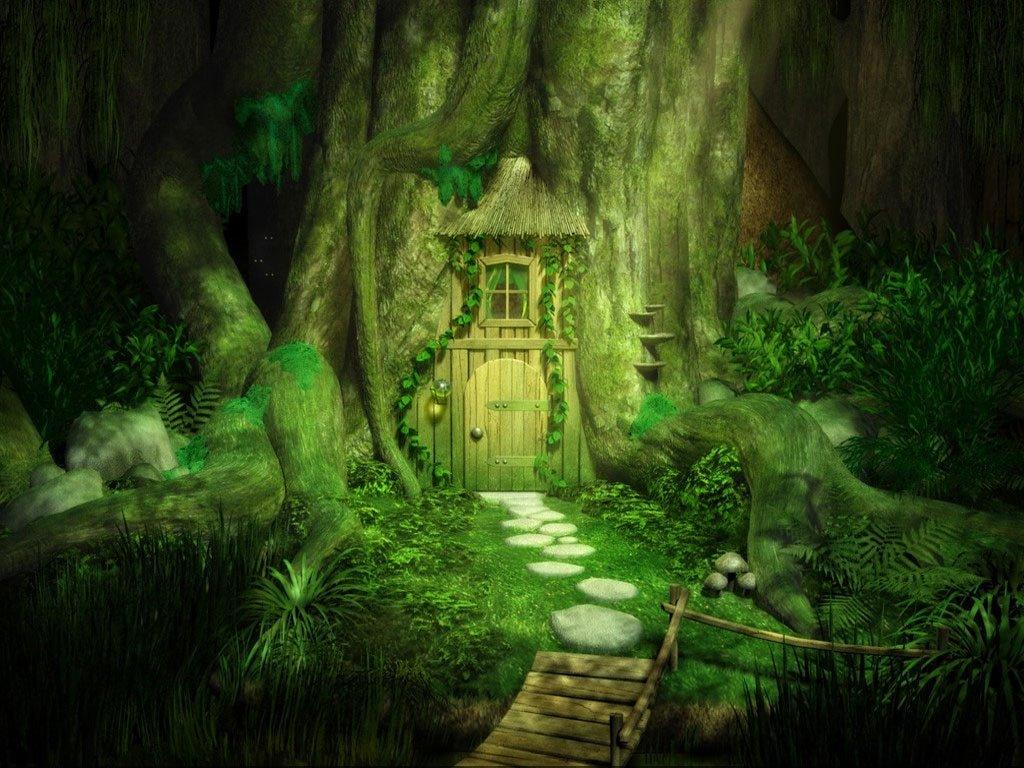 Fantasy Wallpaper: Tree Door