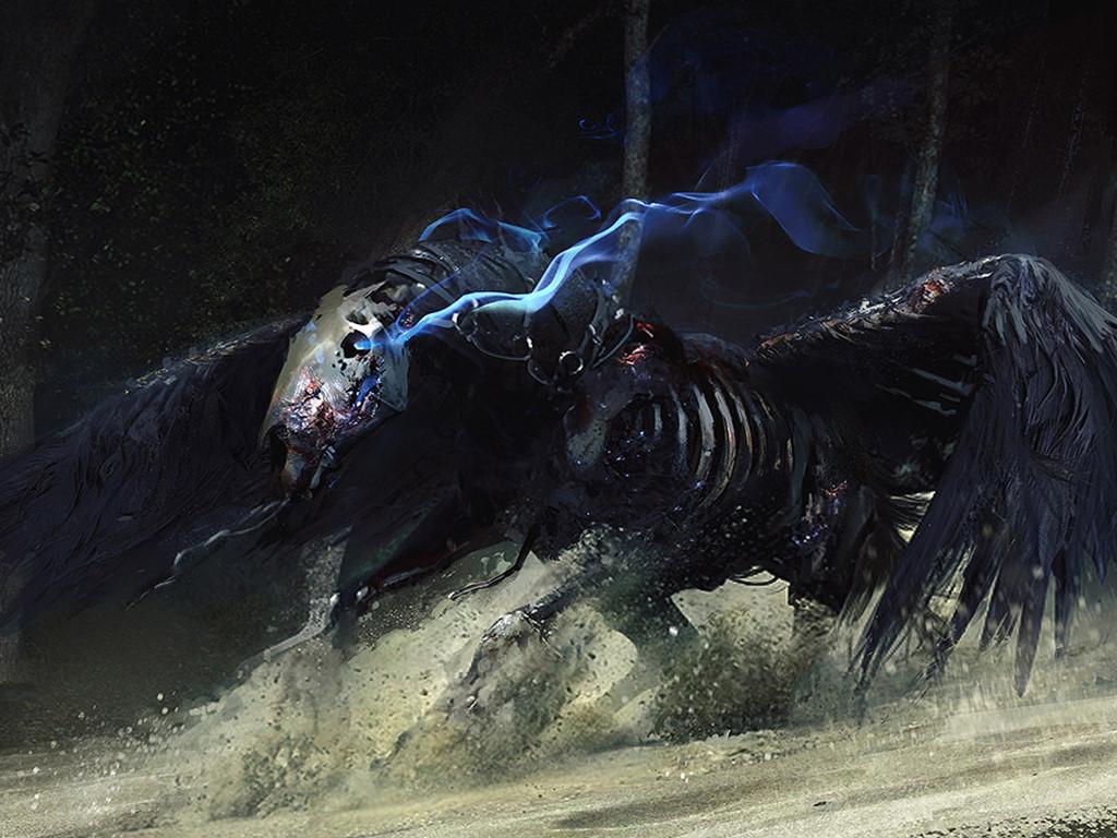 Fantasy Wallpaper: Undead Pegasus