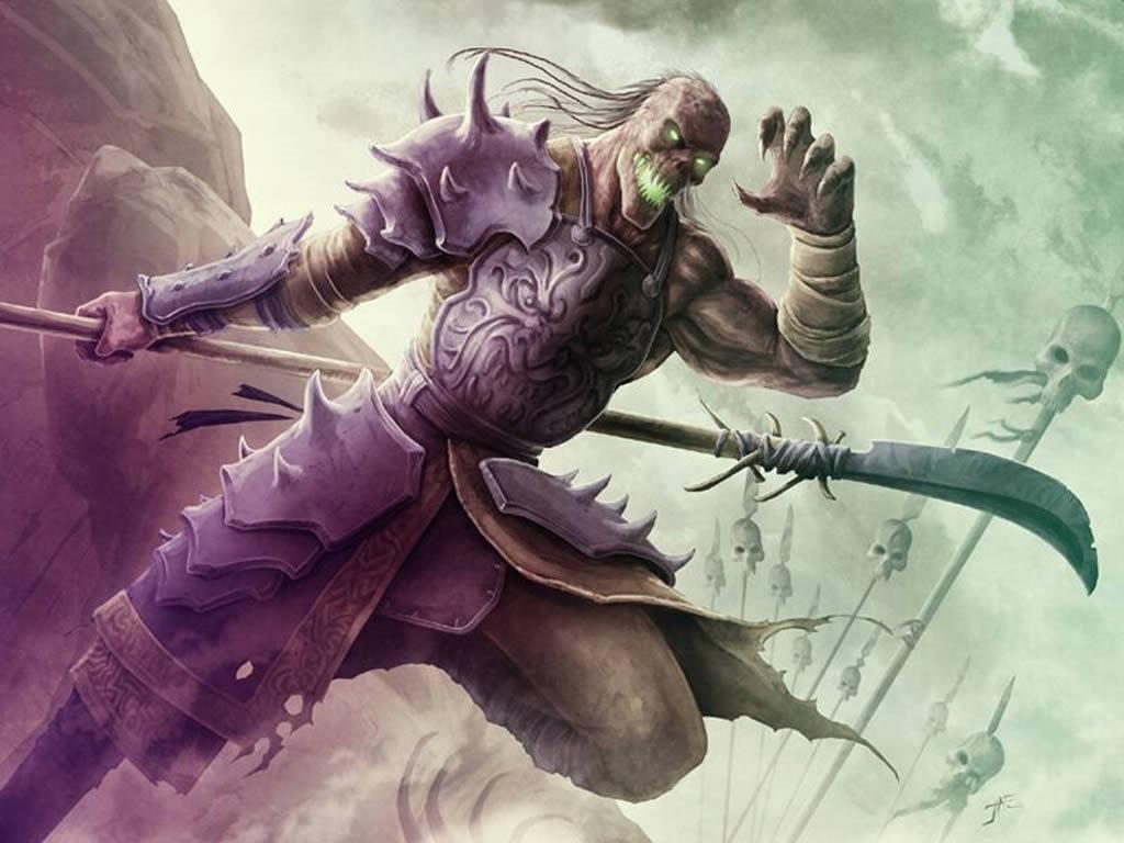 Fantasy Wallpaper: Undead Warrior