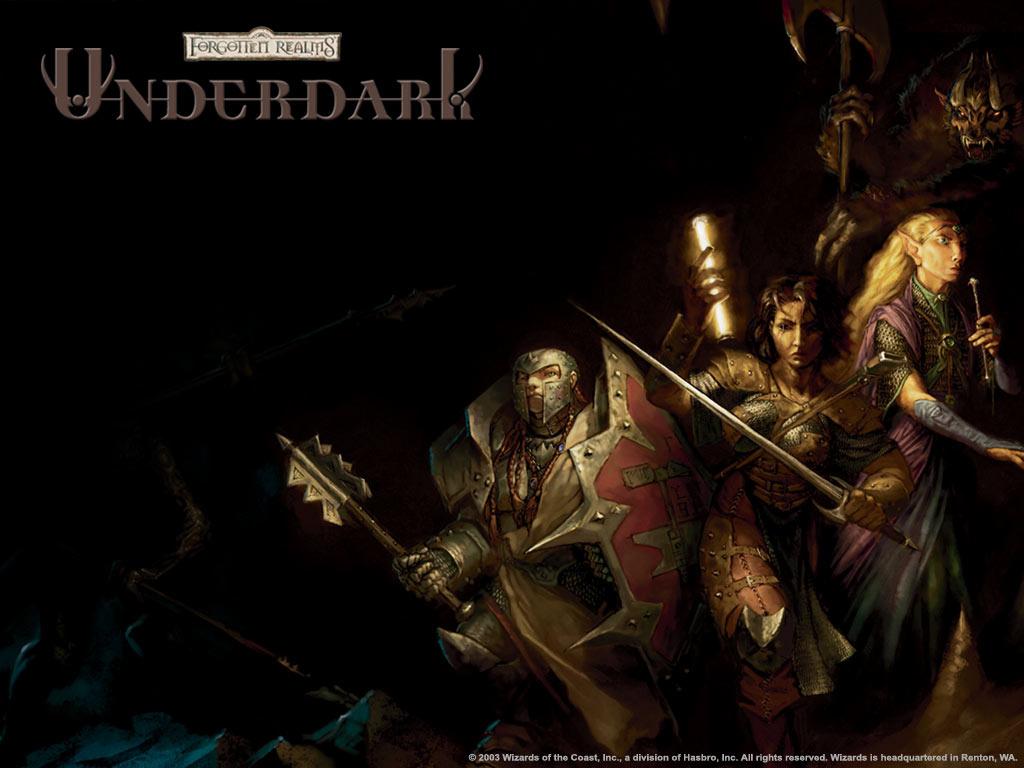 Fantasy Wallpaper: Underdark - Heroes