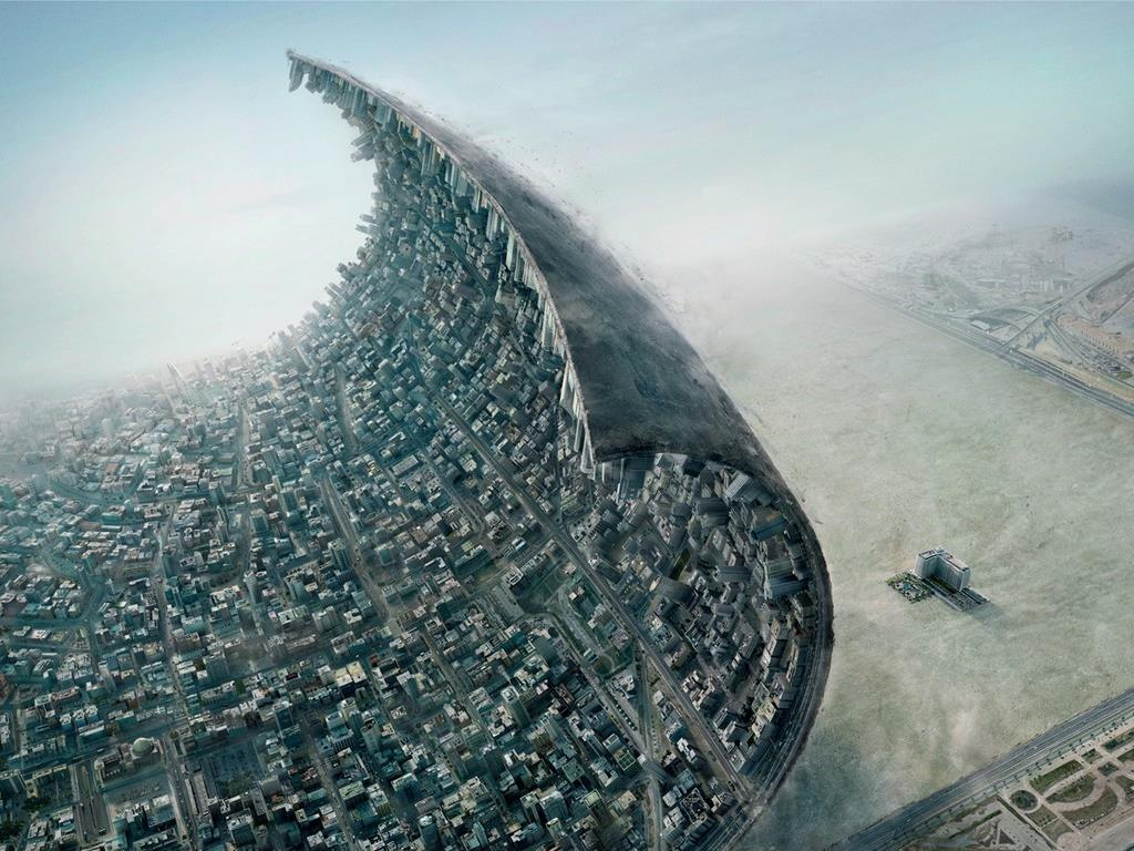 Fantasy Wallpaper: Urban Wave