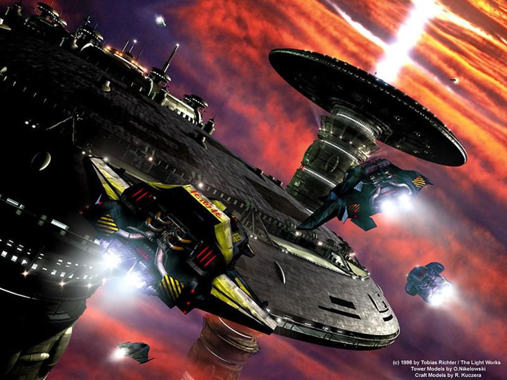 Fantasy Wallpaper: Utopian - Space Station