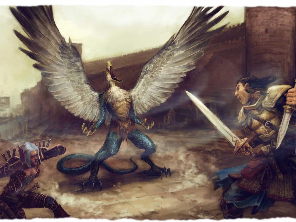 Fantasy Wallpaper: Vrock - Fight