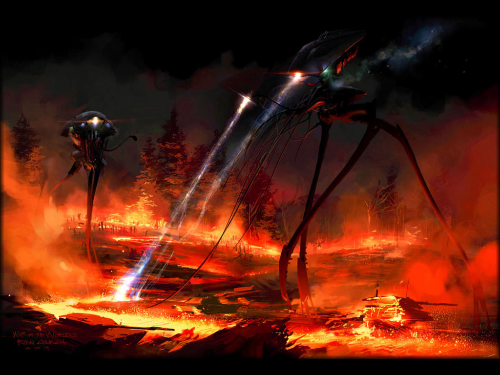 Fantasy Wallpaper: War of the Worlds - Tripods