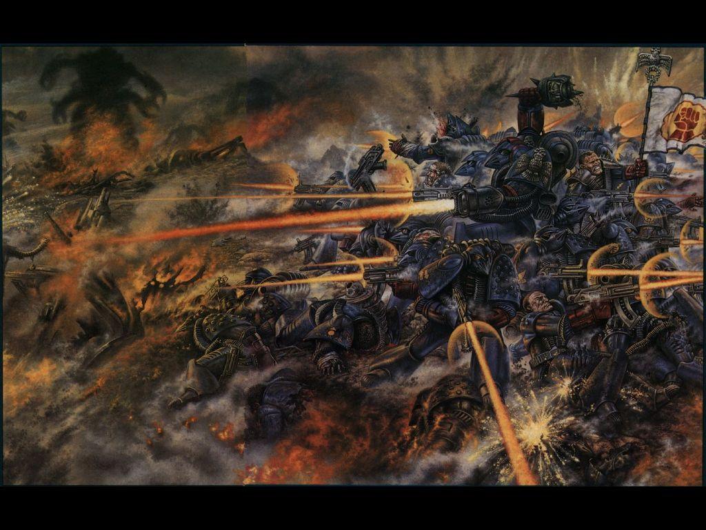 Fantasy Wallpaper: Warhammer 40K - Eternal Battle