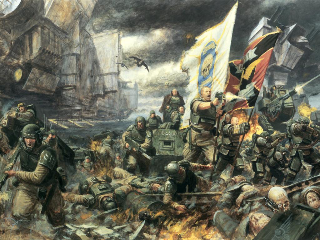 Fantasy Wallpaper: Warhammer 40K - March