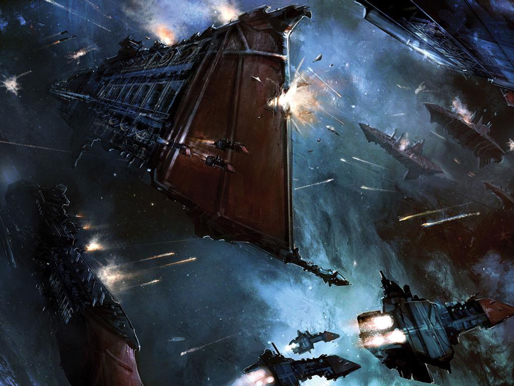 Fantasy Wallpaper: Warhammer 40K - Space Battle