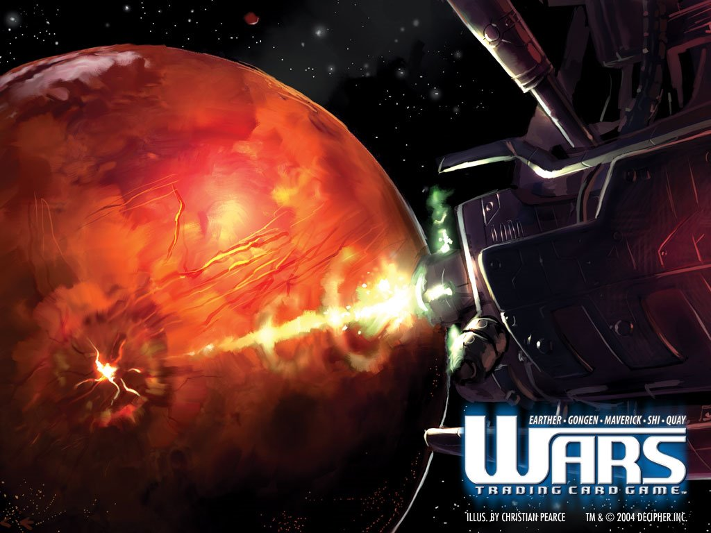 Fantasy Wallpaper: Wars - Orbital Bombing