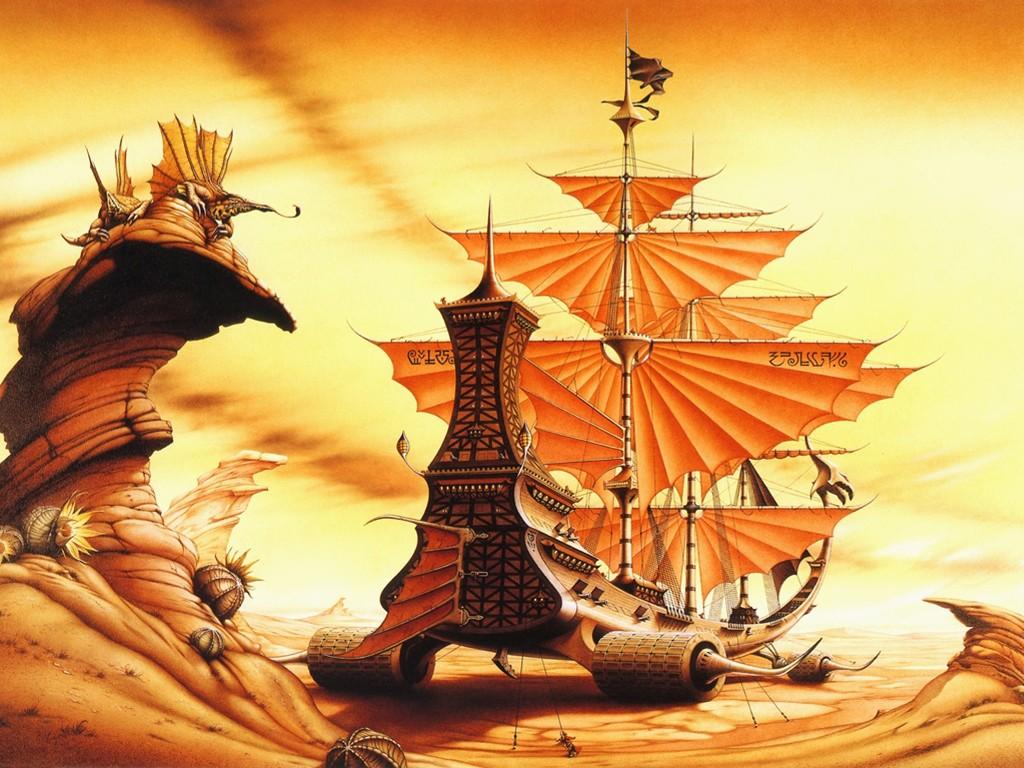 Fantasy Wallpaper: Weird Ship