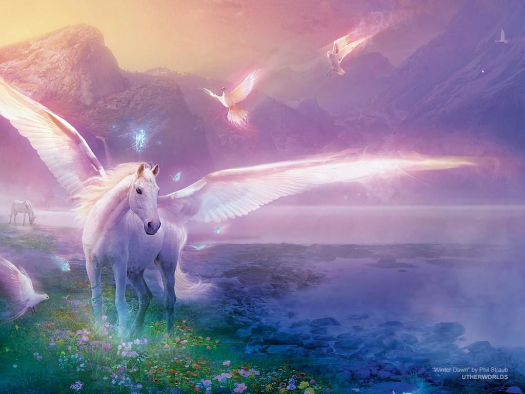 Fantasy Wallpaper: Winter Dawn (by Philip Straub)