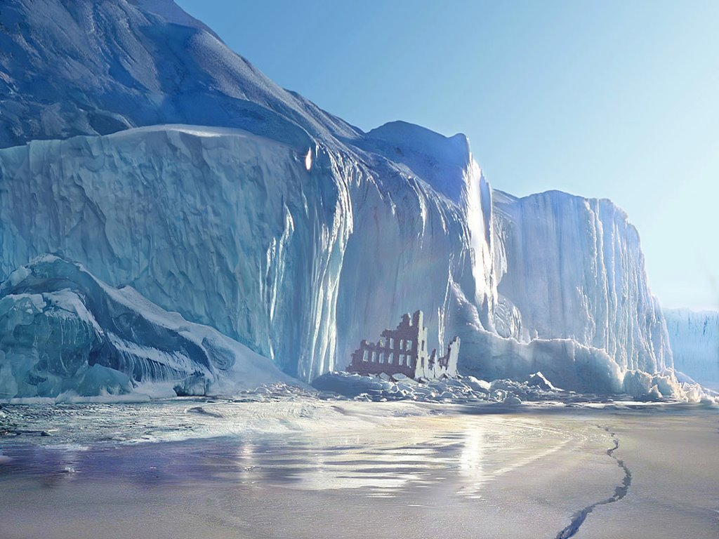 Fantasy Wallpaper: World Without People - Ice Age