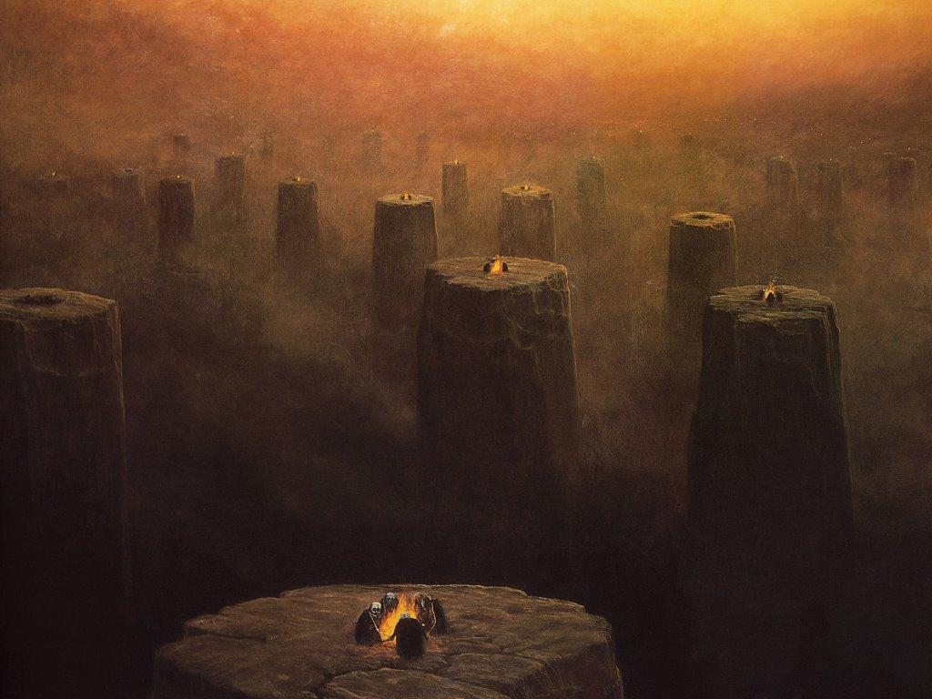 Fantasy Wallpaper: Zdzislaw Beksinski - Rituals