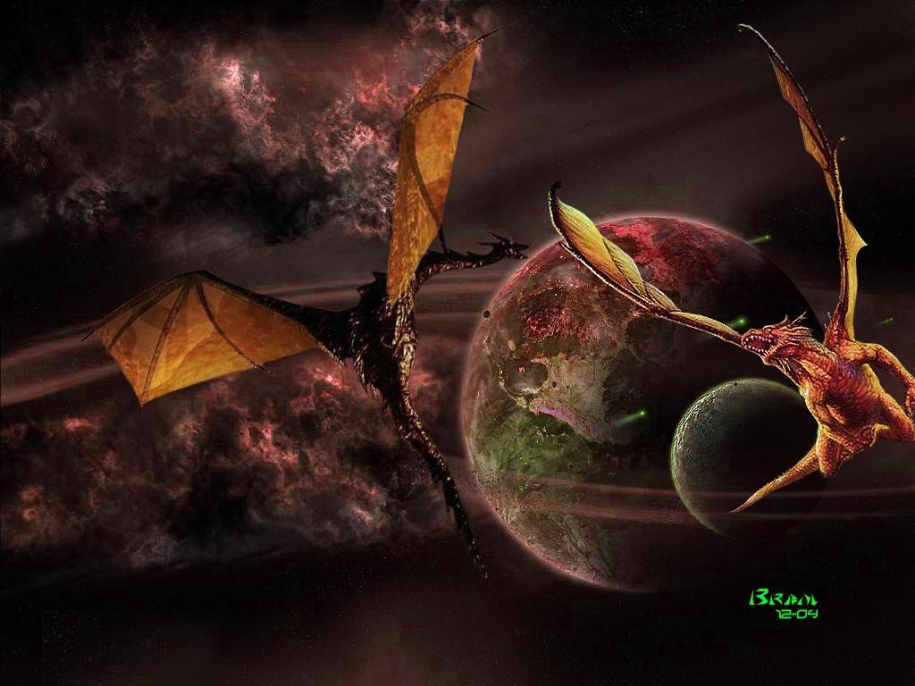 Fantasy Wallpaper: Zero Flight (Dragons)