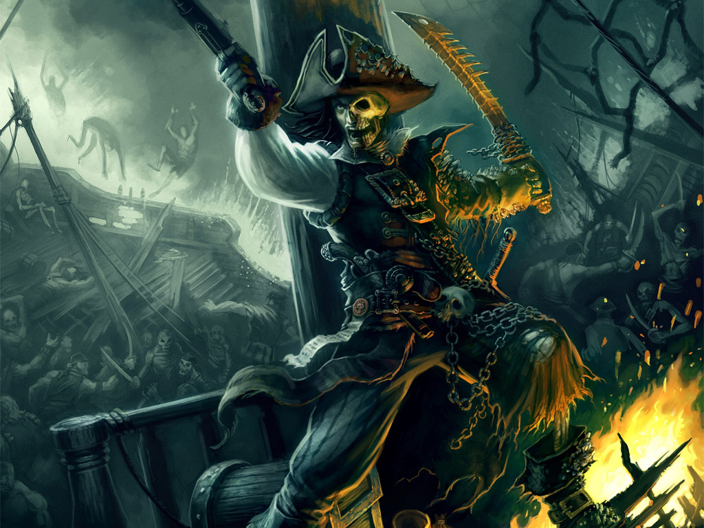 Fantasy Wallpaper: Zombie Pirate
