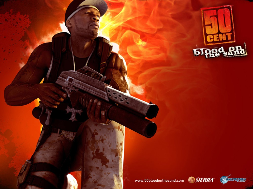 Games Wallpaper: 50 Cent - Blood on the Sand