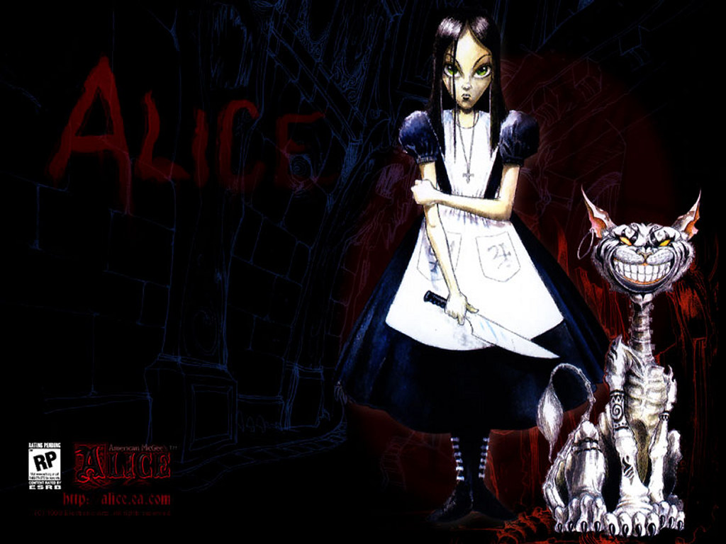 Games Wallpaper: Alice and Chesire Cat