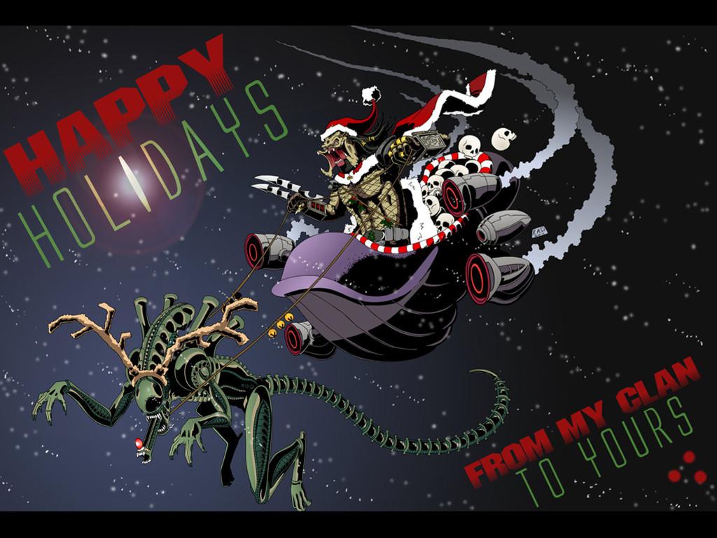 Games Wallpaper: Aliens vs. Predator - Christmas