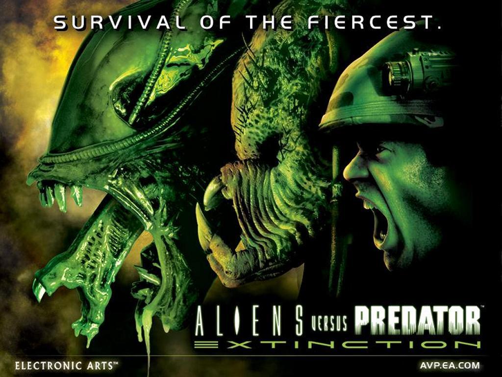Games Wallpaper: Aliens versus Predator - Extinction