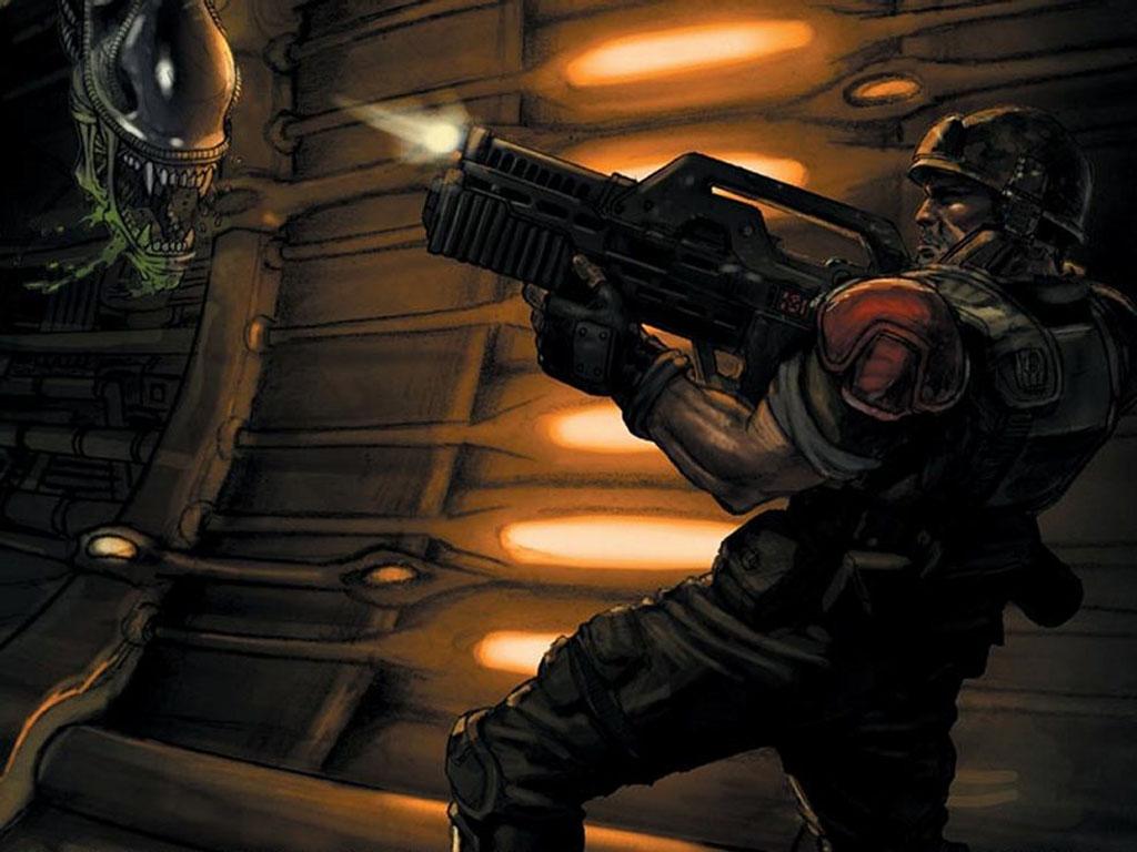 Games Wallpaper: Aliens vs Predator 2