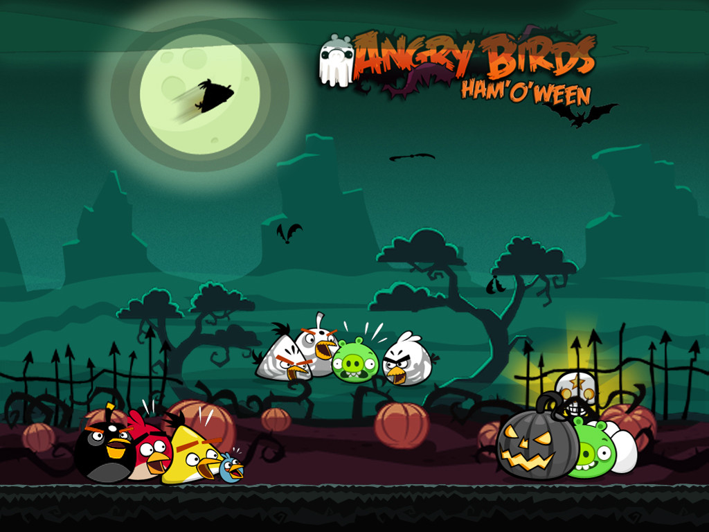 Games Wallpaper: Angry Birds Ham'o'Ween