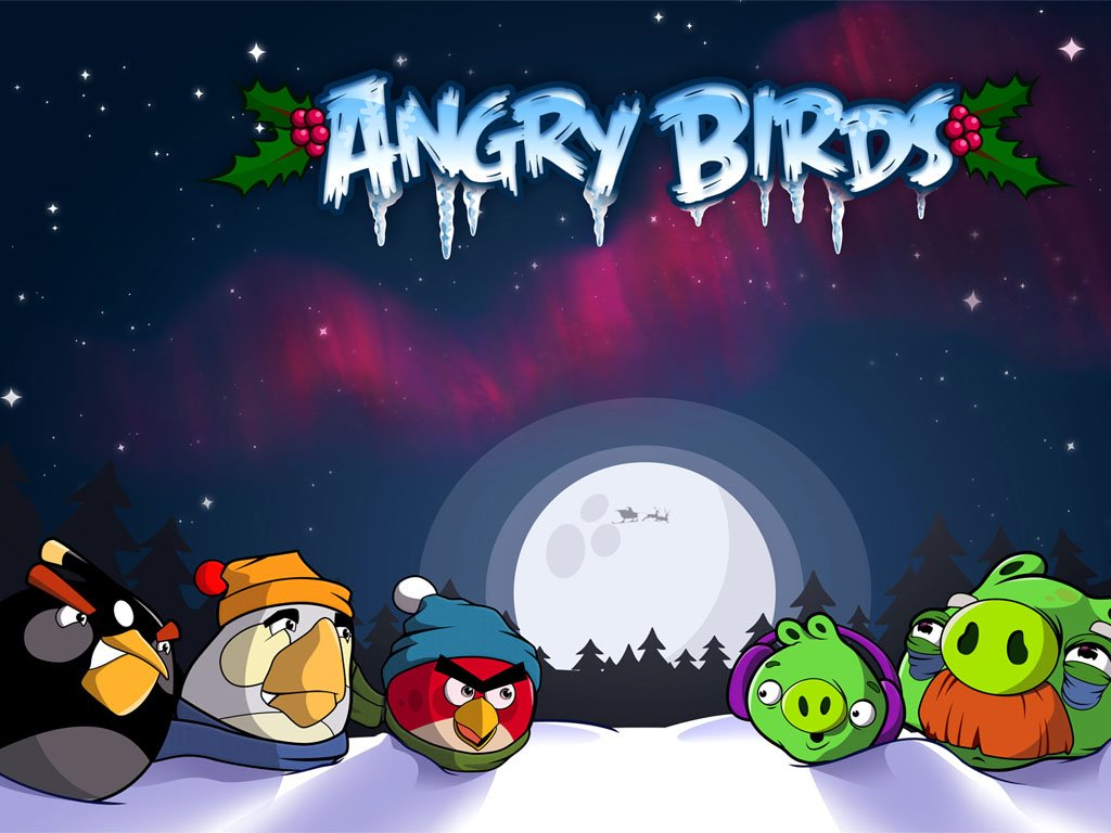 Games Wallpaper: Angry Birds - Christmas