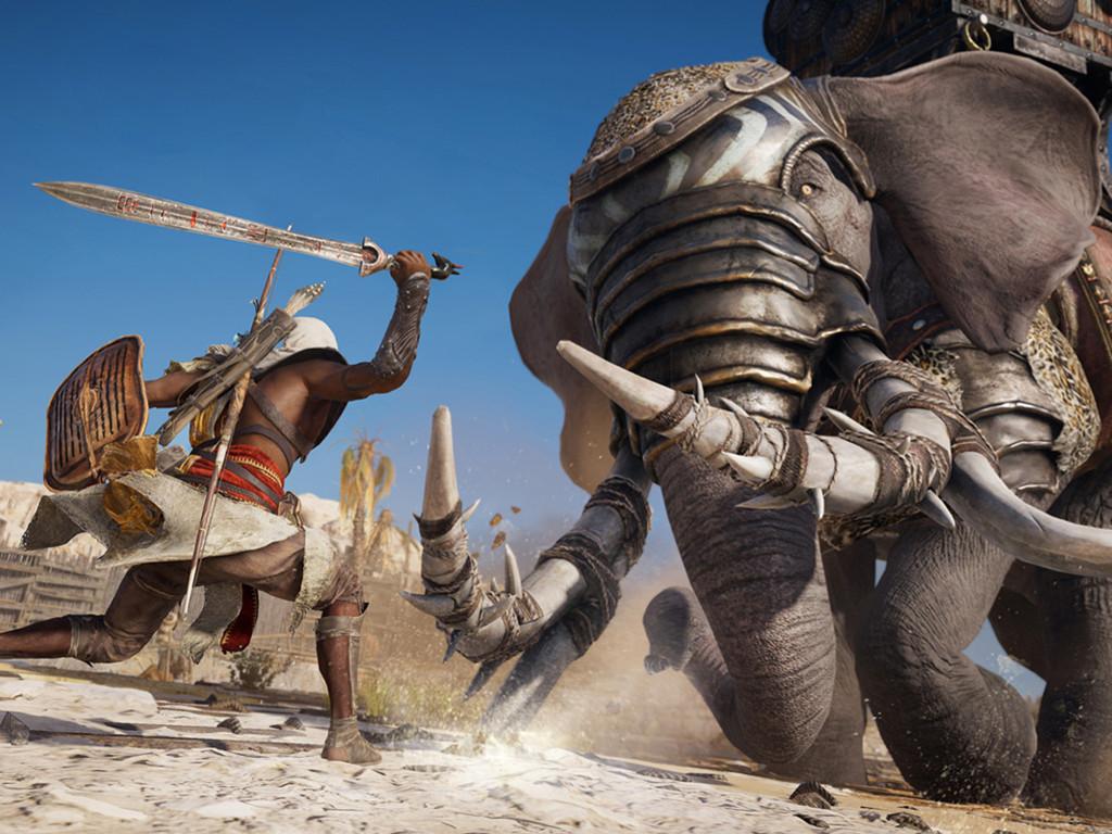 Games Wallpaper: Assassin's Creed Origins - War Elephant