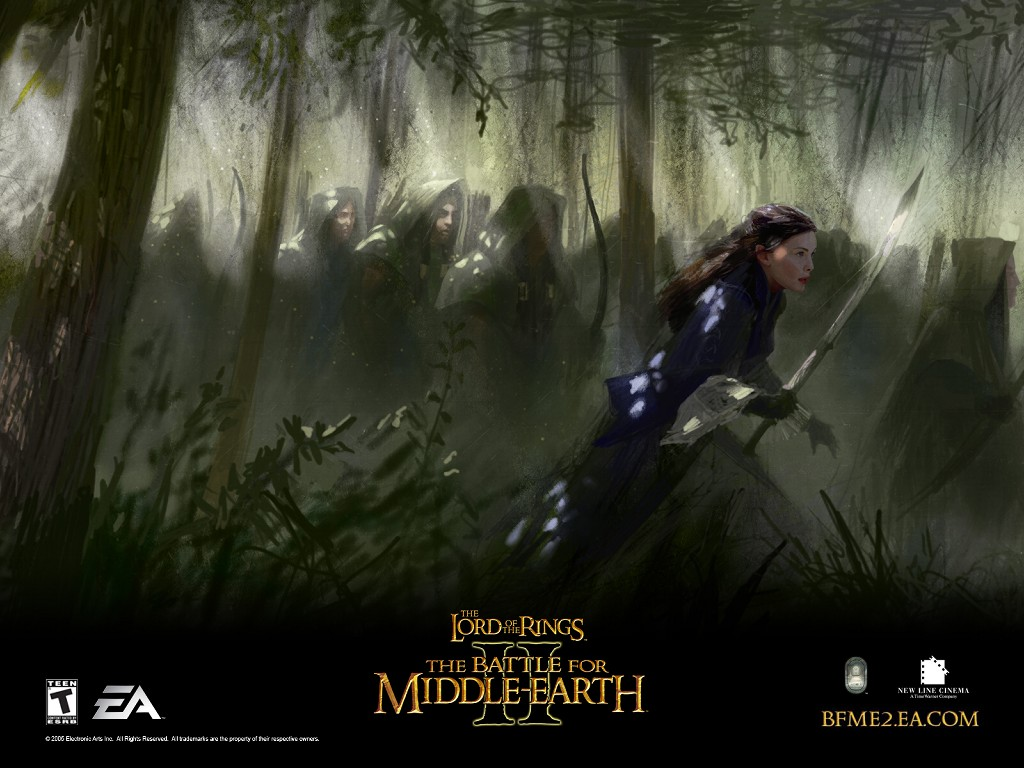 Games Wallpaper: Battle for Middle-Earth II - Arwen Races to Battle