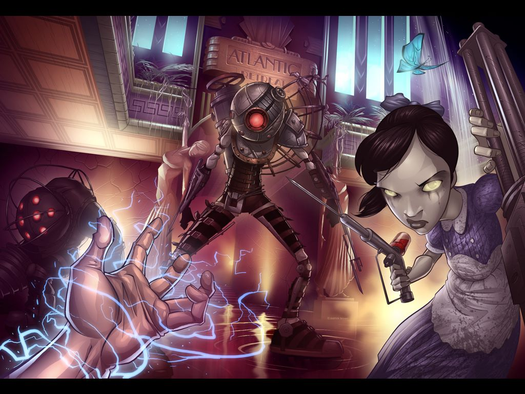 Games Wallpaper: Bioshock 2 (by Patrick Brown)