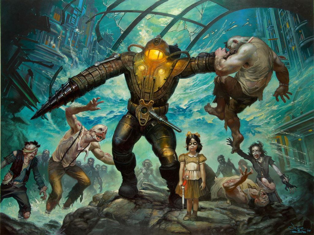 Games Wallpaper: Bioshock (by Boris Vallejo)
