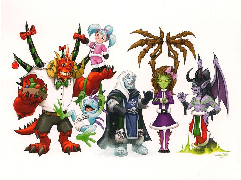 Games Wallpaper: Blizzard - Christmas Card 2008