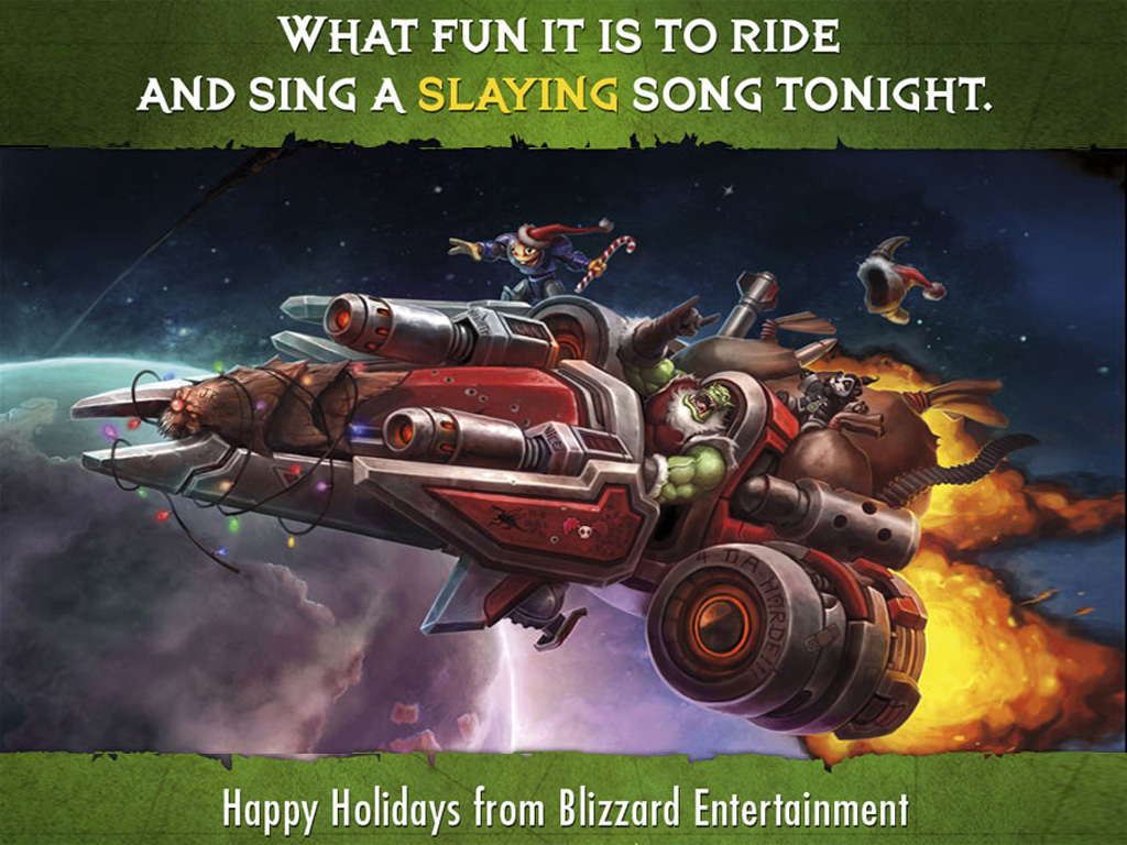 Games Wallpaper: Blizzard - Christmas Card