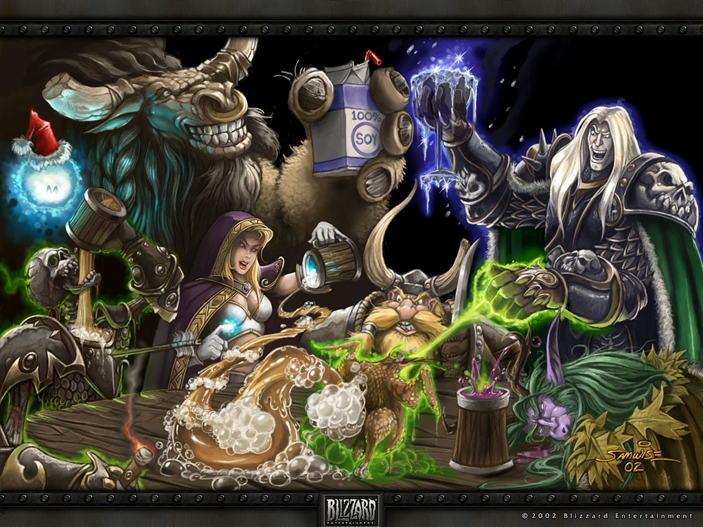 Games Wallpaper: World of Warcraft - Christmas Party