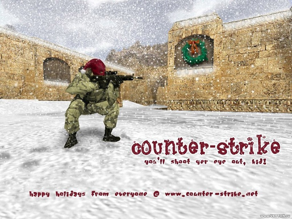 Games Wallpaper: Counter-Strike Christmas