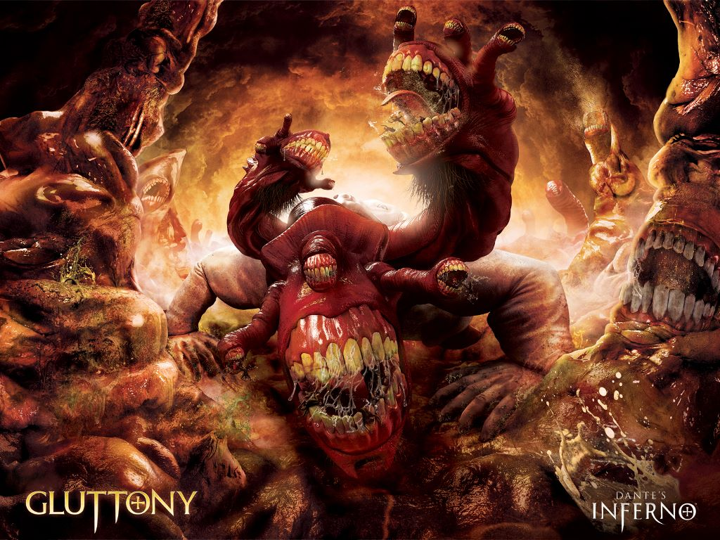 Games Wallpaper: Dante's Inferno - Gluttony