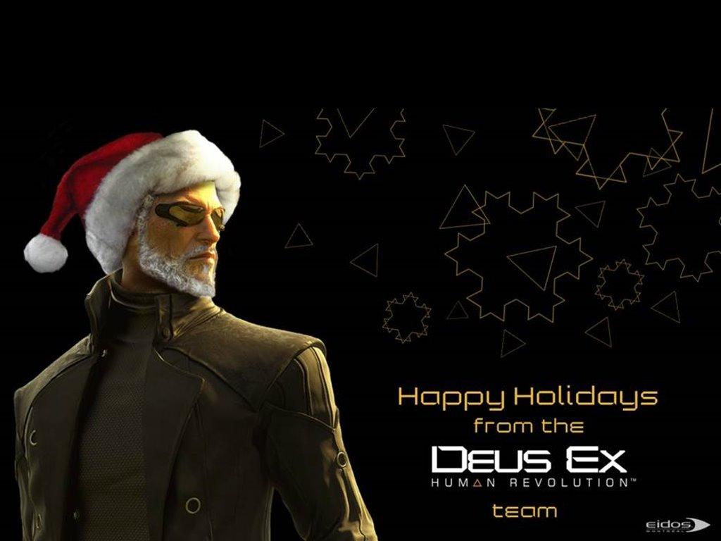 Games Wallpaper: Deus Ex Human Revolution - Christmas Postcard