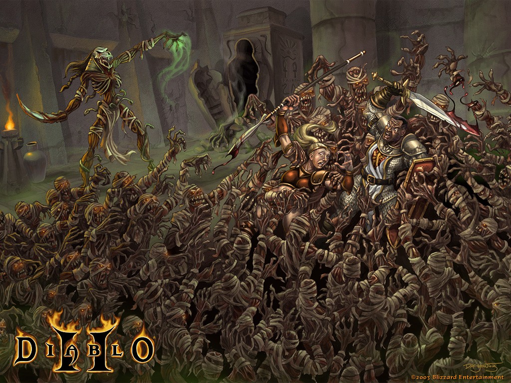 Games Wallpaper: Diablo 2 - Mummies