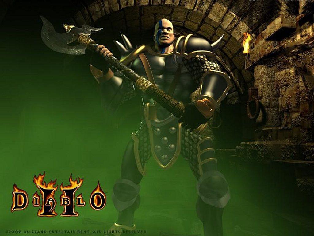 Games Wallpaper: Diablo 2 - Warrior
