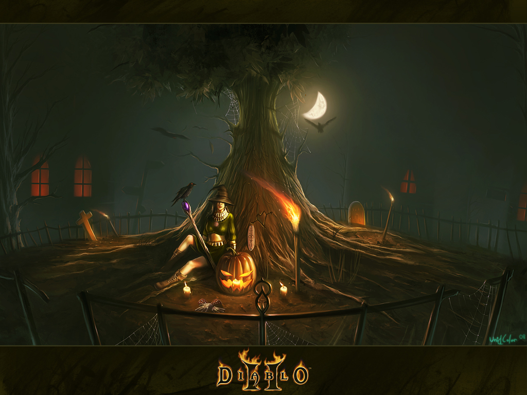 Games Wallpaper: Diablo II - Halloween