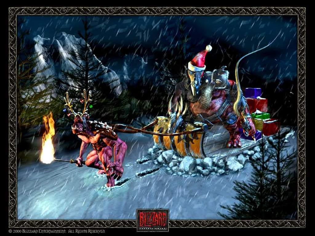 Games Wallpaper: Diablo - Merry Christmas