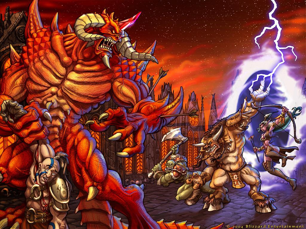 Papel de Parede Gratuito de Jogos : Diablo vs World of Warcraft