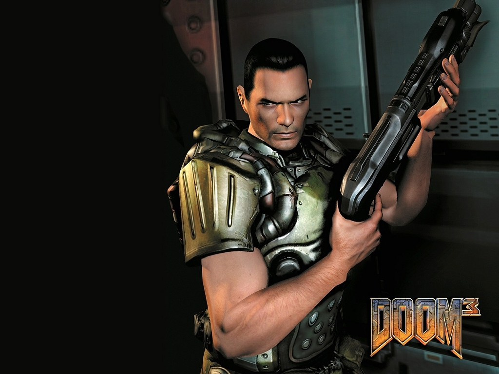 Games Wallpaper: Doom 3 - Marine