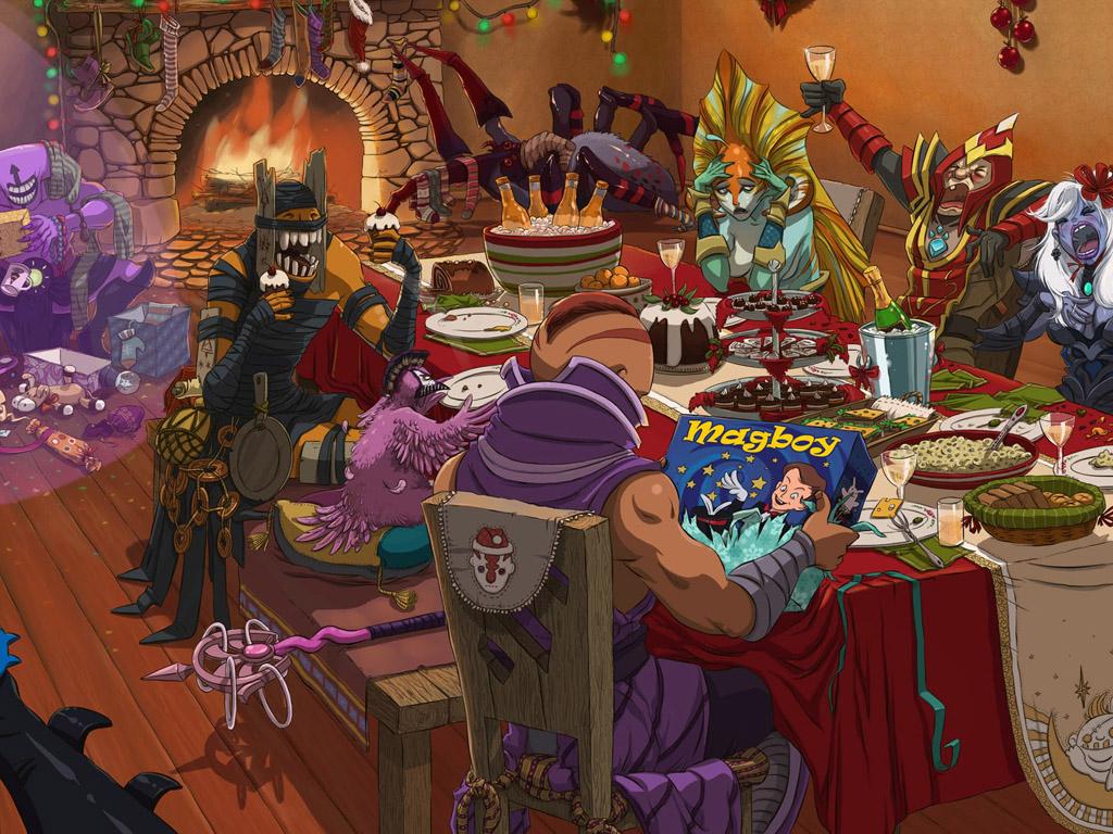 Games Wallpaper: Dota 2 - Christmas Party